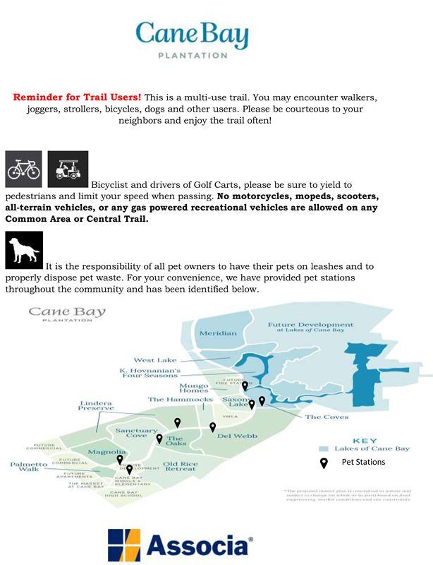 Del Webb at Cane Bay Association - Reminder For Trail ...